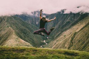 adventure journey joyous woman