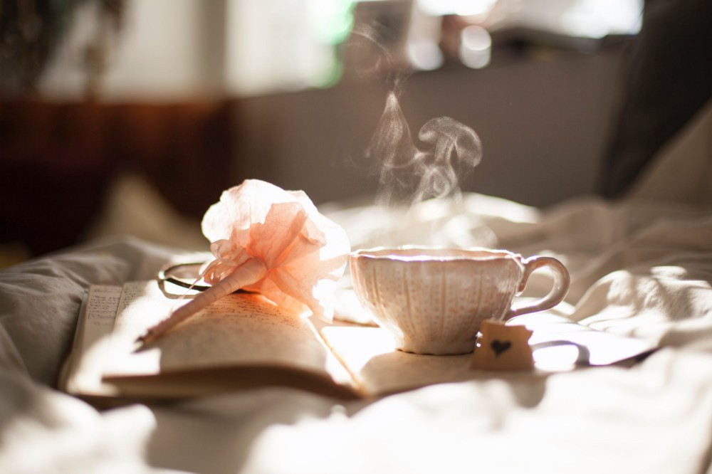 Essential Ways To Replenish Your Spirit, such as drinking tea, journaling, quiet alone time.